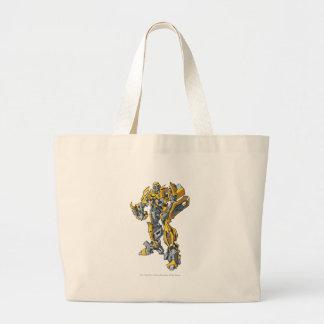 Línea arte 5 del abejorro bolsa tela grande