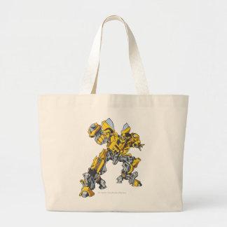 Línea arte 7 del abejorro bolsa tela grande