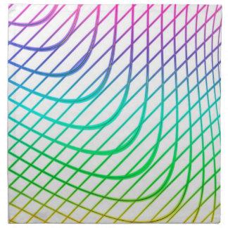 Línea arte colorida abstracta moderna servilletas
