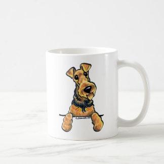 Línea arte de Airedale Terrier Taza Clásica