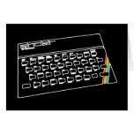 Línea arte de espectro de ZX Tarjeta