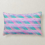 Línea arte en rosa y trullo almohada