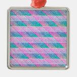 Línea arte en rosa y trullo ornamentos de reyes magos