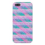Línea arte en rosa y trullo iPhone 5 cobertura