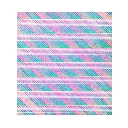 Línea arte en rosa y trullo libreta para notas