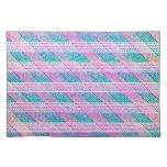 Línea arte en rosa y trullo manteles