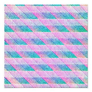 Línea arte en rosa y trullo impresion fotografica