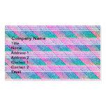 Línea arte en rosa y trullo tarjeta de visita