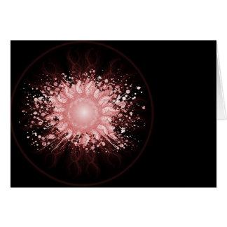 Línea arte - rojo de la bola de la energía tarjeta de felicitación