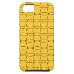 Línea arte - TAZAS - negro en amarillo iPhone 5 Coberturas