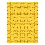 Línea arte - TAZAS - negro en amarillo Plantilla De Membrete