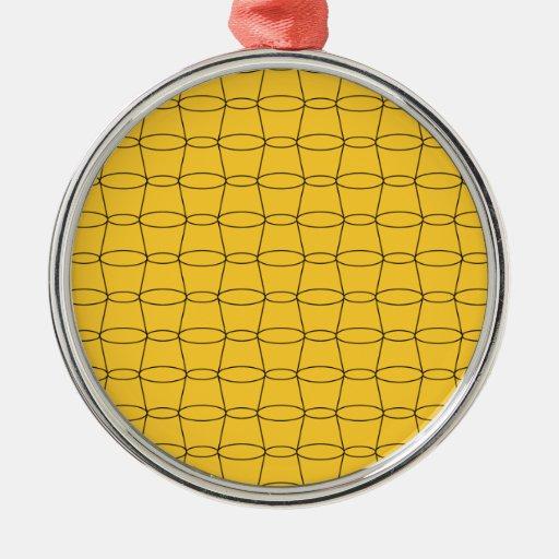 Línea arte - TAZAS - negro en amarillo Ornato