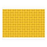 Línea arte - TAZAS - negro en amarillo Postal