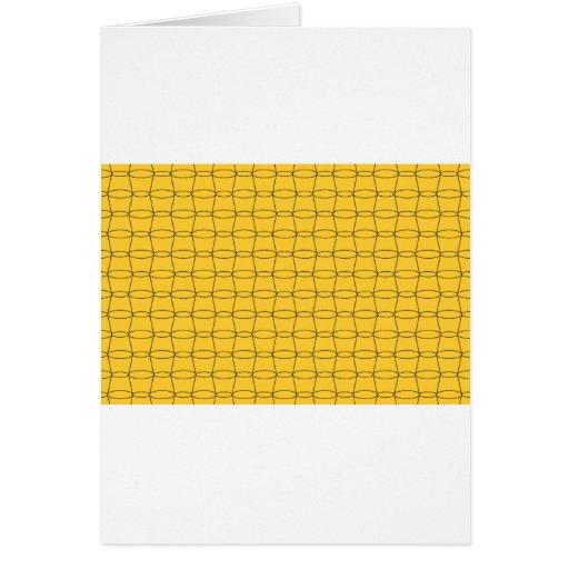 Línea arte - TAZAS - negro en amarillo Felicitacion