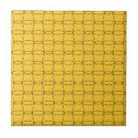 Línea arte - TAZAS - negro en amarillo Teja