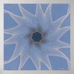 Línea arte técnicas mixtas Swirly noviembre de 201 Posters