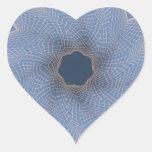 Línea arte técnicas mixtas Swirly noviembre de Pegatina En Forma De Corazón