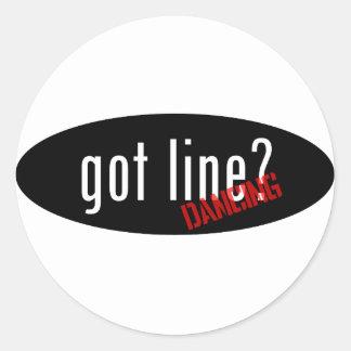 Línea artículos del baile - línea conseguida baile etiqueta redonda