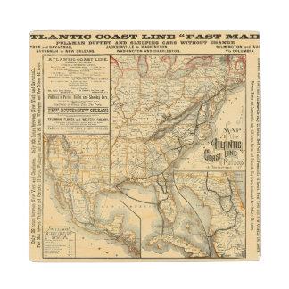 Línea atlántica de la costa del mapa