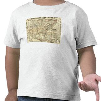 Línea atlántica de la costa del mapa camiseta