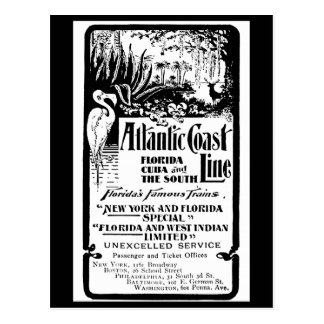 Línea atlántica ferrocarril 1934 de la costa tarjeta postal