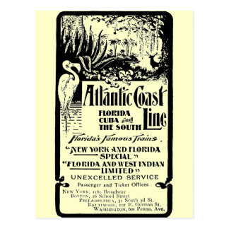 Línea atlántica ferrocarril 1934 de la costa postal