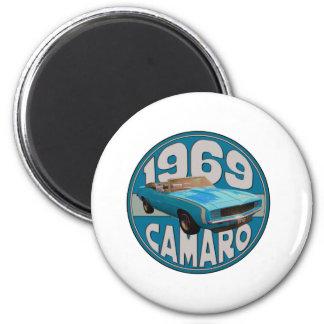 Línea azul clara deporte estupendo 1969 de Camaro Iman Para Frigorífico