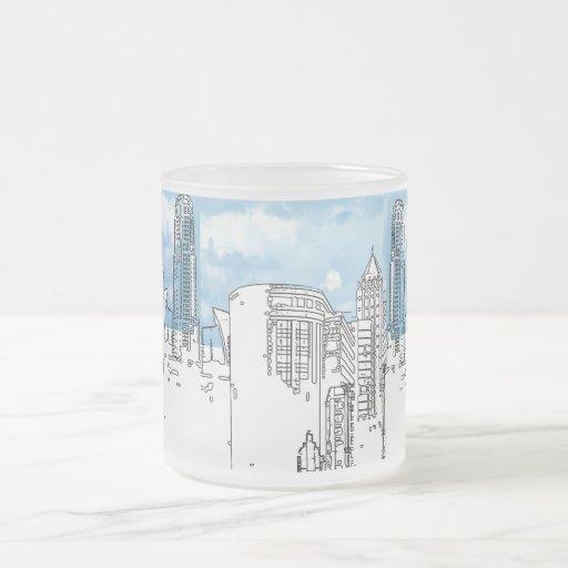 Línea azul de la Cielo-Ciudad diseñada por la taza