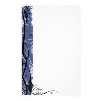 línea azul del swirlie papelería de diseño