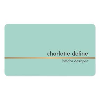 Línea azul elegante elegante interiorista del oro tarjetas de visita
