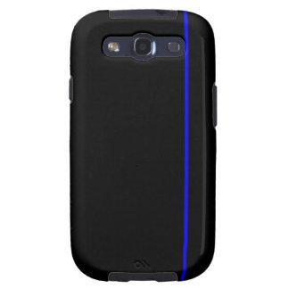 Línea azul fina caja del teléfono galaxy SIII fundas