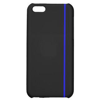 Línea azul fina caso del iPhone