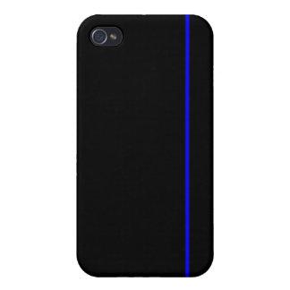 Línea azul fina caso del iPhone iPhone 4 Protector