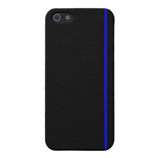 Línea azul fina caso del iPhone iPhone 5 Cárcasas