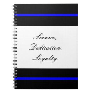 Línea azul fina cuaderno