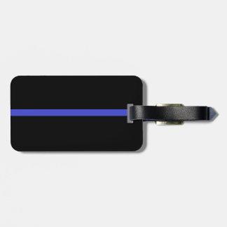 Línea azul fina etiqueta del equipaje etiqueta para maleta