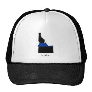 Línea azul fina gorra de Idaho del camionero