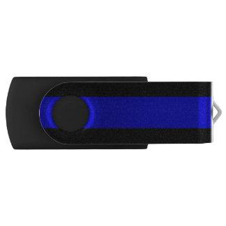 Línea azul fina memoria USB 2.0 giratoria