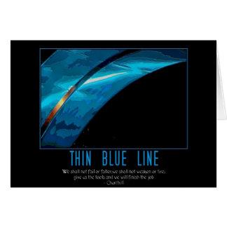 línea azul fina tarjeton