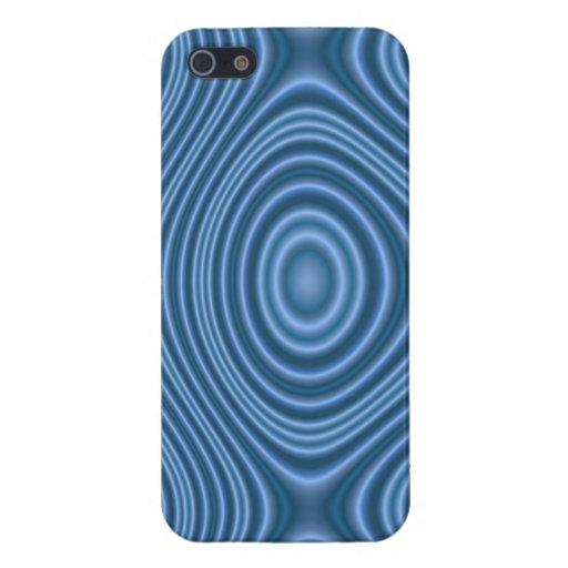 Línea azul modelo iPhone 5 fundas