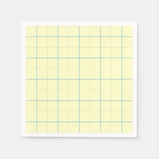 línea azul puntos del modelo de rejilla del rojo servilletas de papel