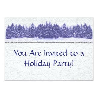 """Línea azul textura del pino del papel hecho a mano invitación 5"""" x 7"""""""