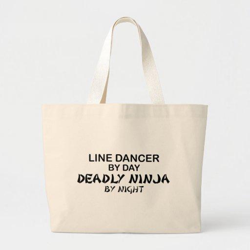 Línea bailarín Ninja mortal por noche Bolsa Tela Grande