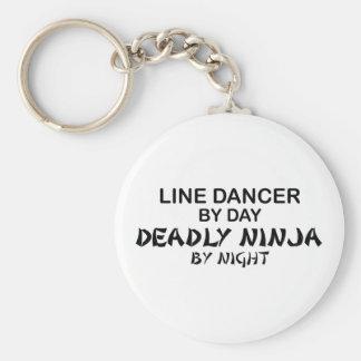 Línea bailarín Ninja mortal por noche Llavero Redondo Tipo Pin