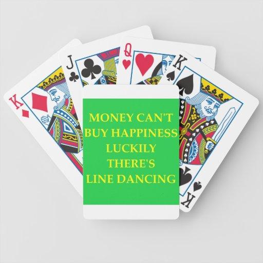 línea baile barajas de cartas
