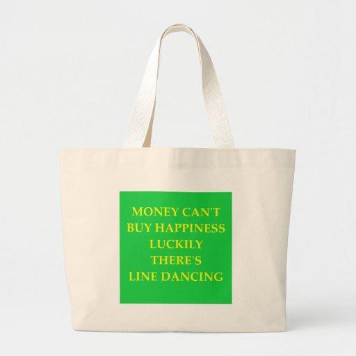 línea baile bolsa tela grande