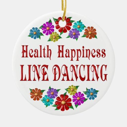 Línea baile de la felicidad de la salud ornamentos de reyes