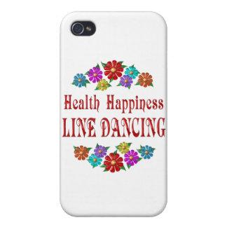 Línea baile de la felicidad de la salud iPhone 4/4S fundas