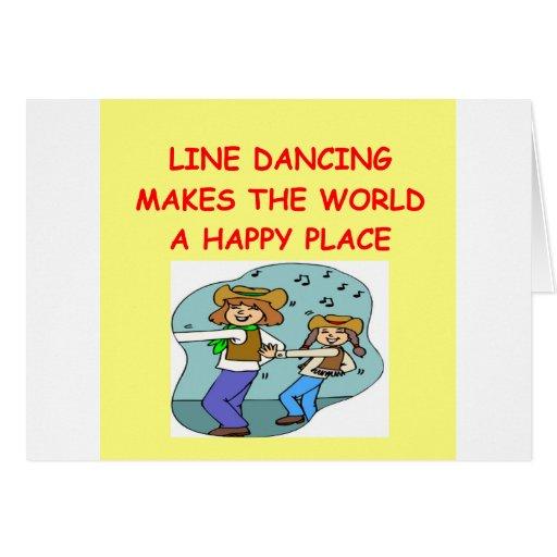 línea baile felicitacion
