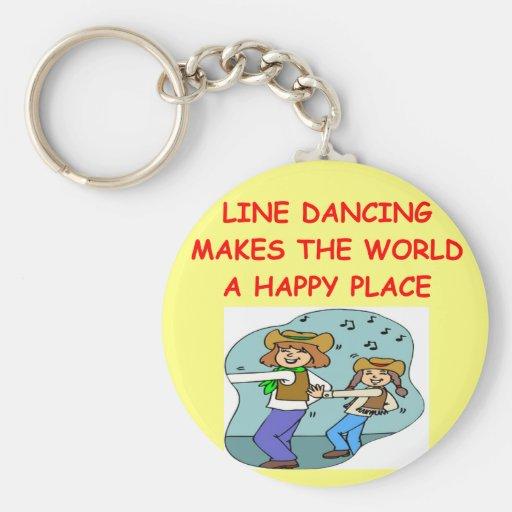 línea baile llavero personalizado